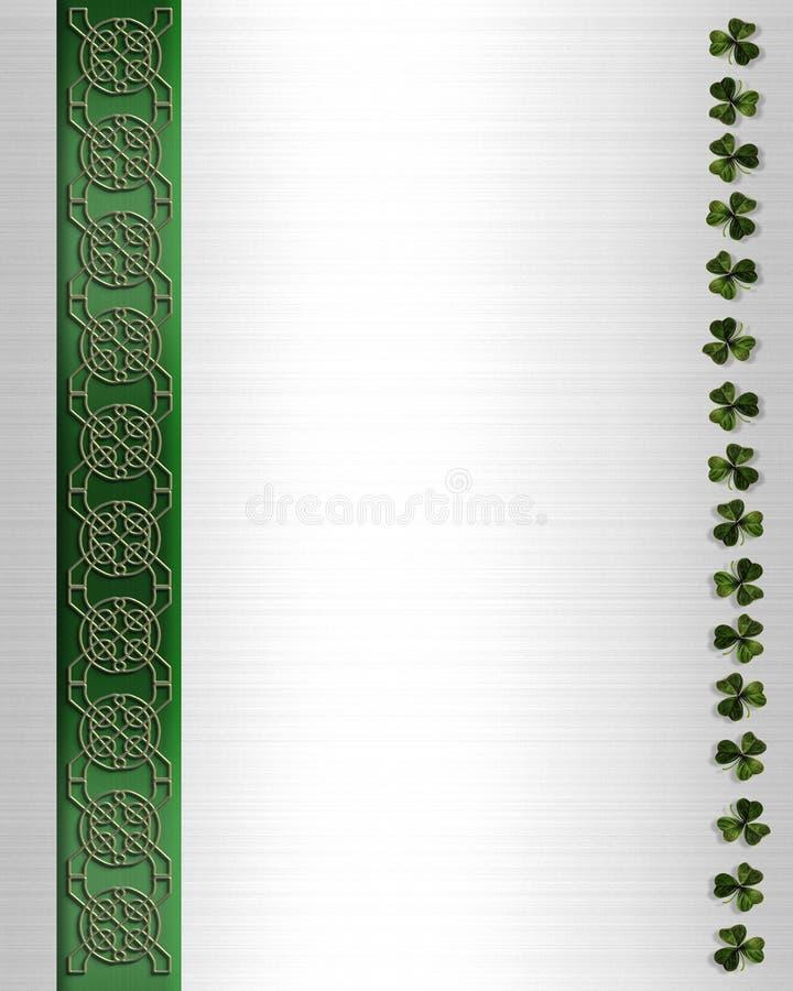 Frontera céltica del nudo del día del St Patricks ilustración del vector
