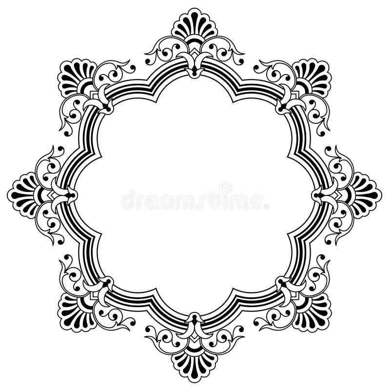 Frontera caligráfica floral libre illustration