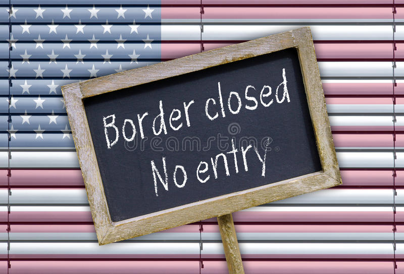 Frontera cerrada - ninguna entrada imagen de archivo libre de regalías