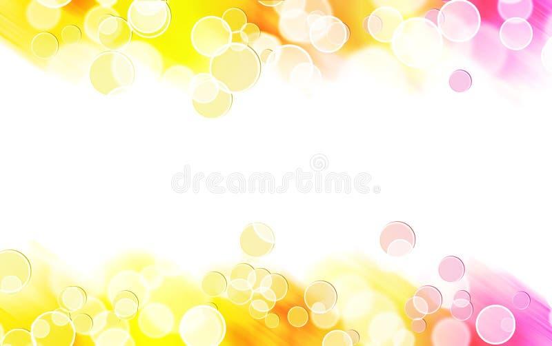 Frontera colorida abstracta de la burbuja stock de ilustración