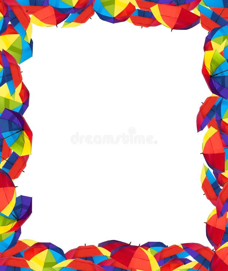 Frontera colorida del paraguas imagenes de archivo