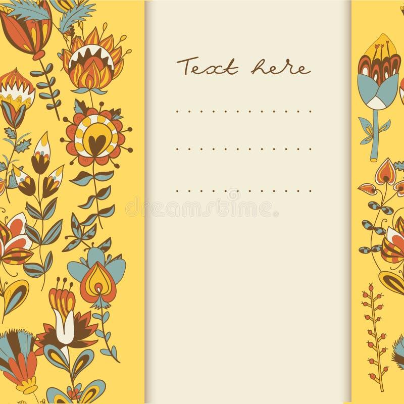 Download Frontera Con Las Flores A Mano Abstractas Ilustración del Vector - Ilustración de flor, historieta: 41905899