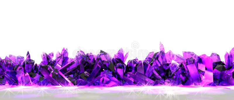 Frontera cristalina stock de ilustración