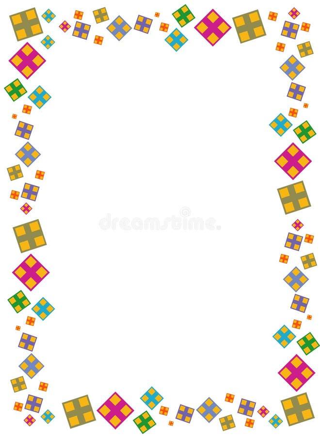 Frontera cuadrada de Colorfull stock de ilustración