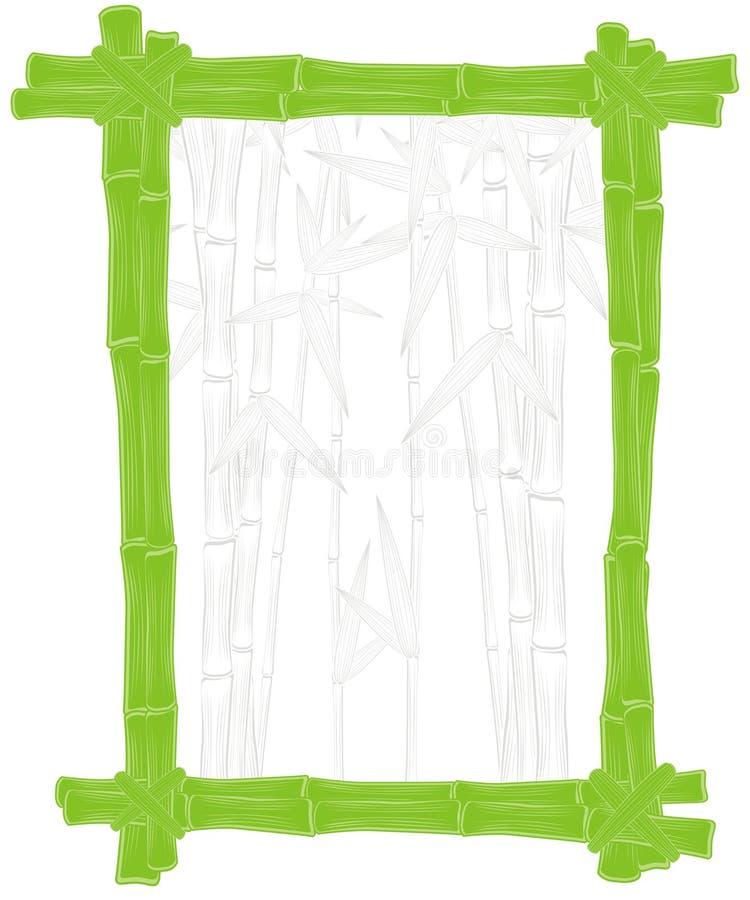 Frontera de bambú verde del verano ilustración del vector
