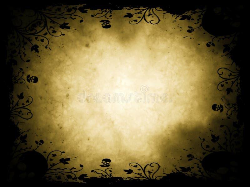 Frontera de Grunge víspera de Todos los Santos ilustración del vector