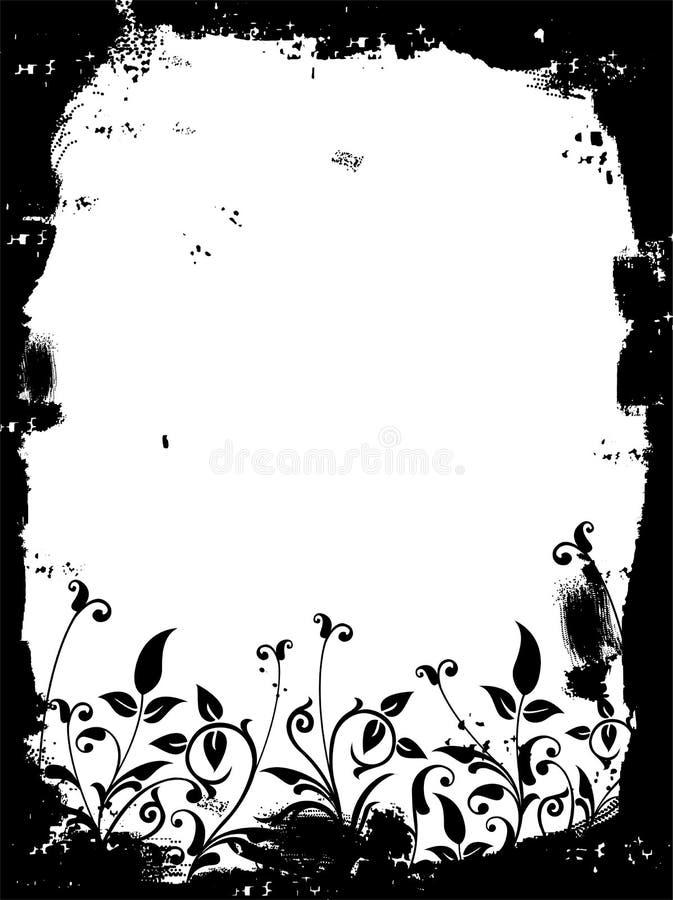 Frontera de Grunge, vector ilustración del vector