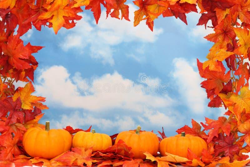 Frontera de la cosecha del otoño