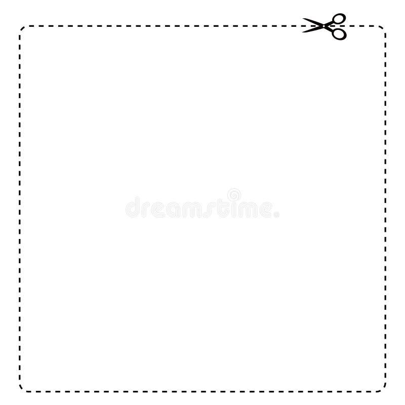 Frontera de la cupón ilustración del vector