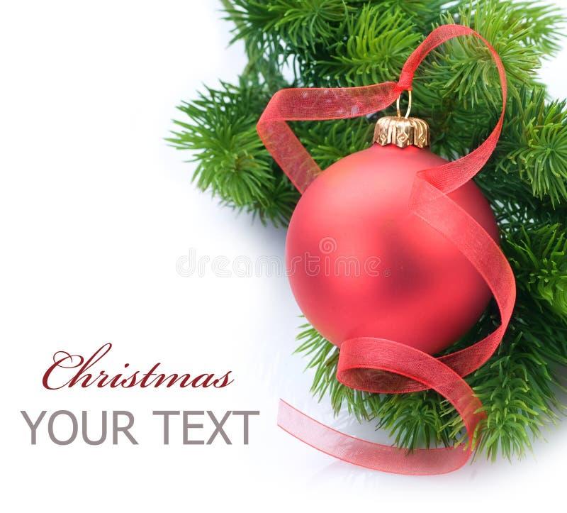 Frontera de la decoración de la Navidad foto de archivo libre de regalías