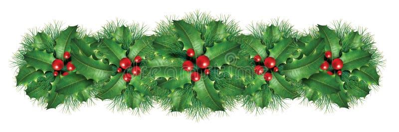 Frontera de la decoración de la Navidad ilustración del vector