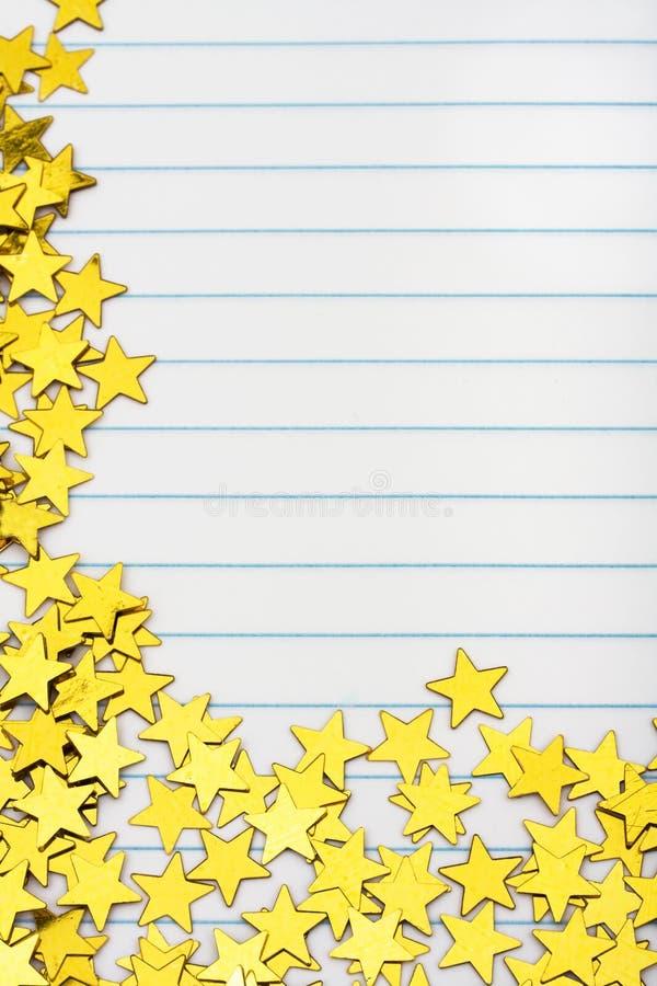 Frontera de la estrella del oro foto de archivo libre de regalías