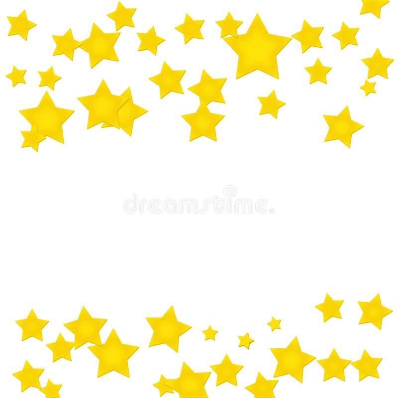 Frontera de la estrella del oro ilustración del vector