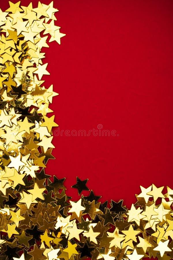 Frontera de la estrella del oro imágenes de archivo libres de regalías