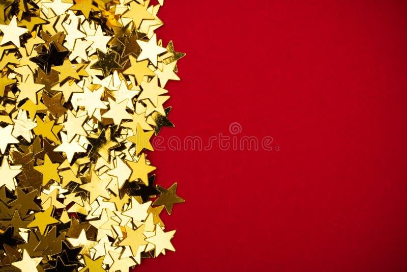 Frontera de la estrella del oro imagenes de archivo