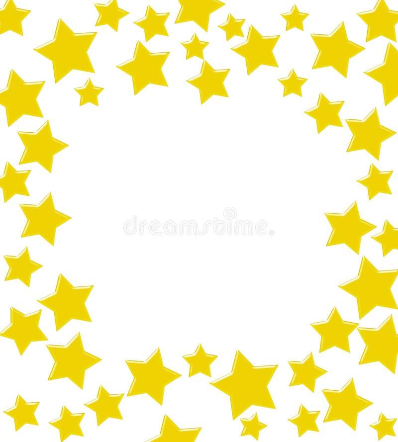 Frontera de la estrella del oro que gana stock de ilustración