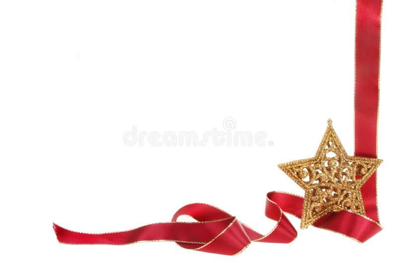 Frontera de la estrella y de la Navidad de la cinta imágenes de archivo libres de regalías