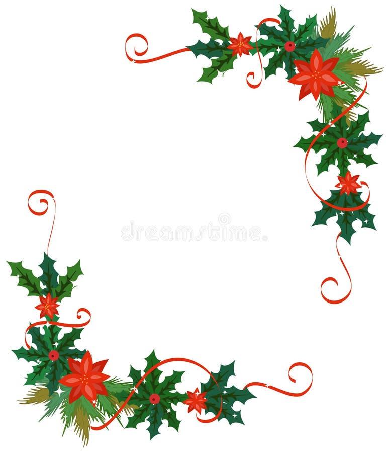 Frontera De La Feliz Navidad Y Marco De La Decoración Ilustración ...