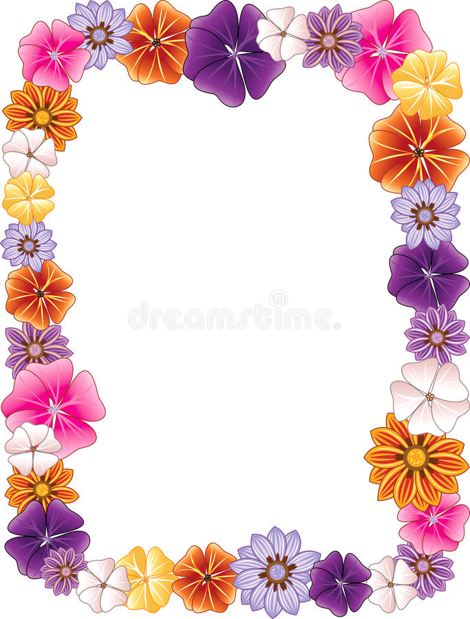 Frontera de la flor stock de ilustración