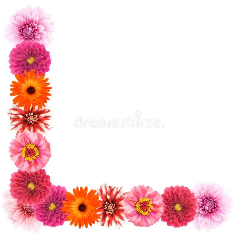 Frontera de la flor imagenes de archivo