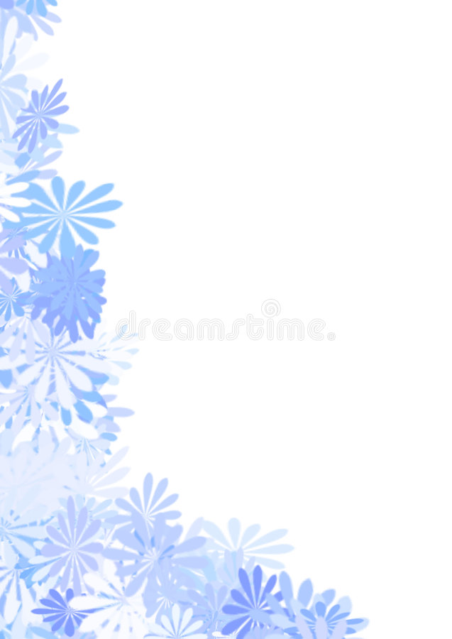 Frontera de la flor imagen de archivo