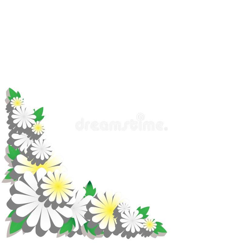 Frontera de la flor con las hojas imagenes de archivo