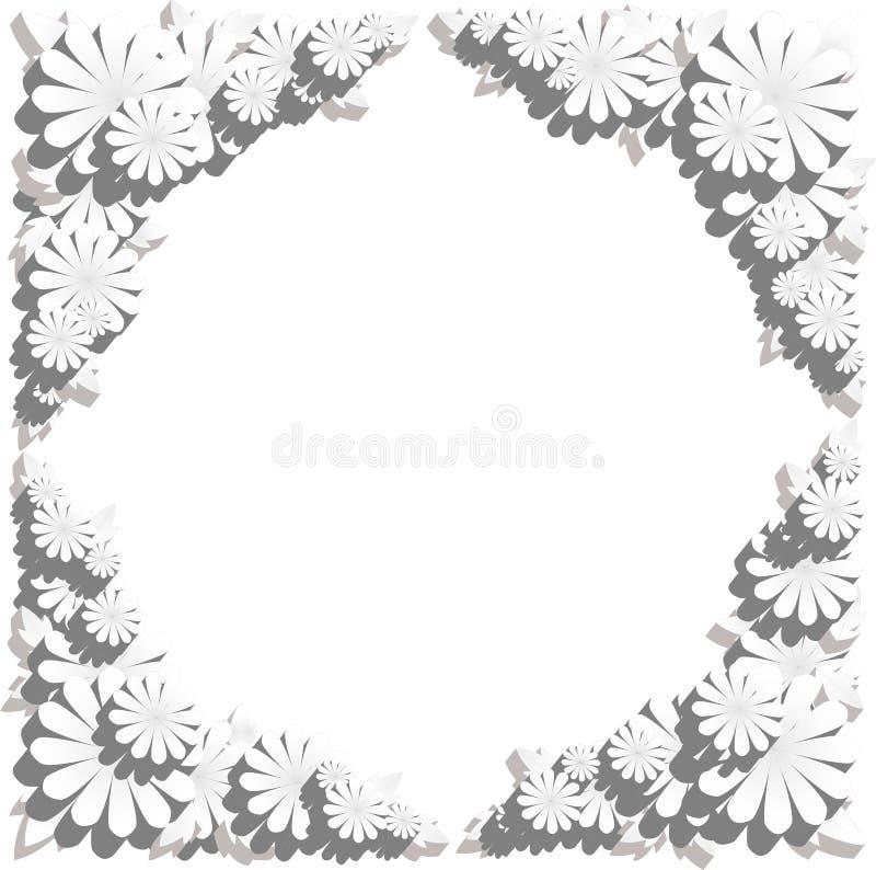 Frontera de la flor en efecto grabado en relieve fotos de archivo libres de regalías