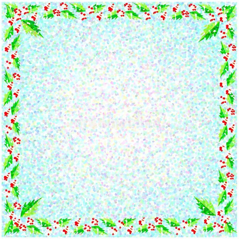 Frontera de la flor en fondo efectuado foto de archivo