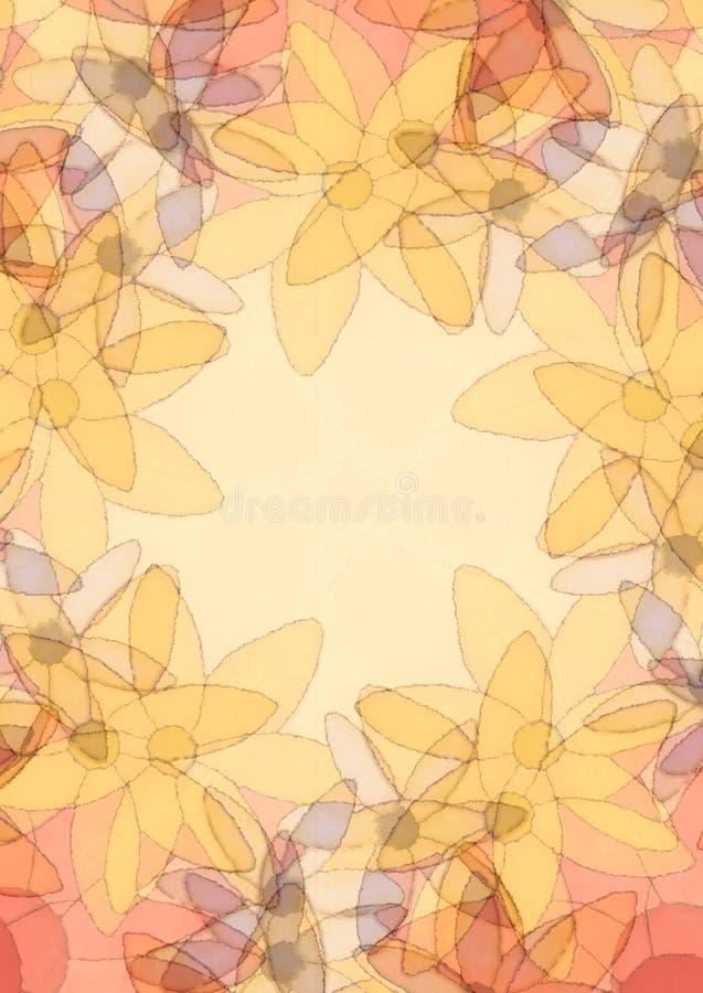 Frontera de la foto de la textura de las flores ilustración del vector