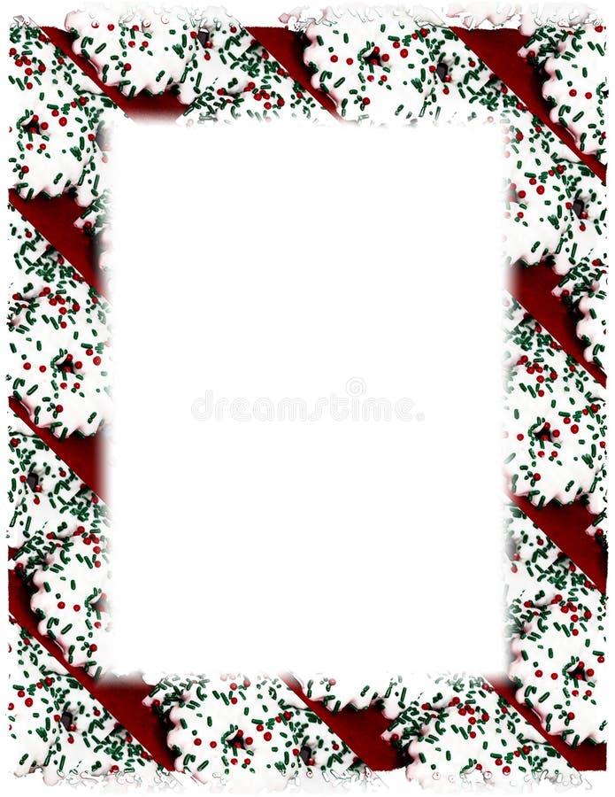 Frontera de la galleta de la Navidad en blanco libre illustration