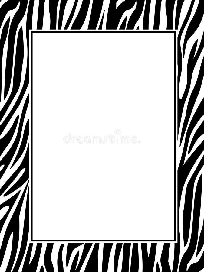 Frontera de la impresión de la cebra ilustración del vector