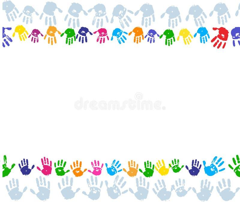 Frontera de la impresión de la pintura de la mano stock de ilustración