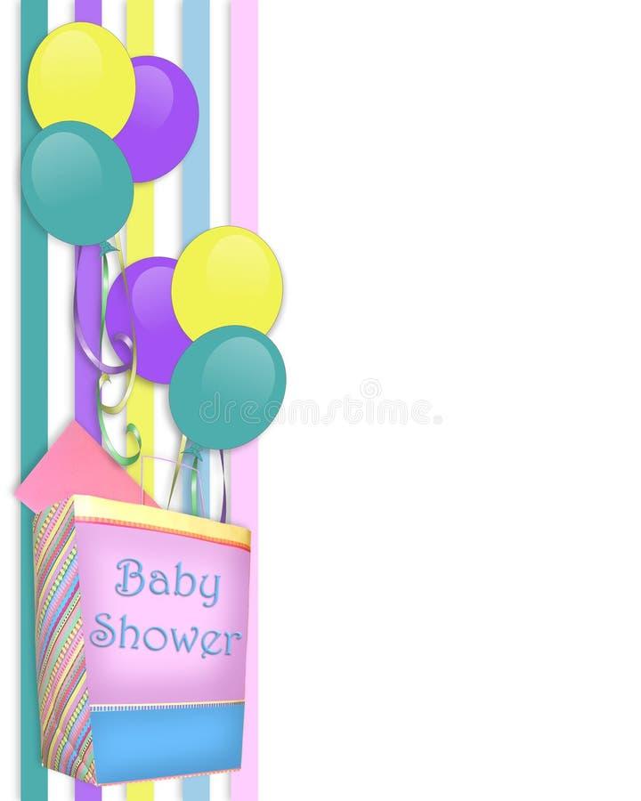 Frontera de la invitación de la ducha de bebé libre illustration