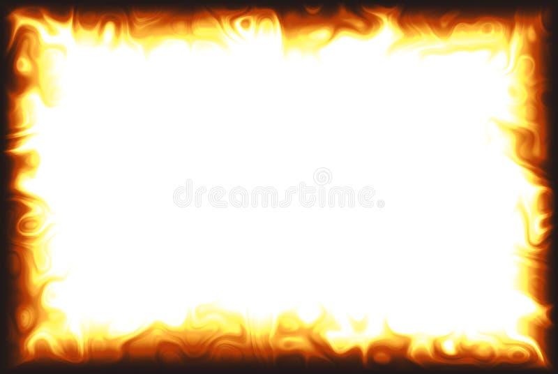 Frontera de la llama ilustración del vector
