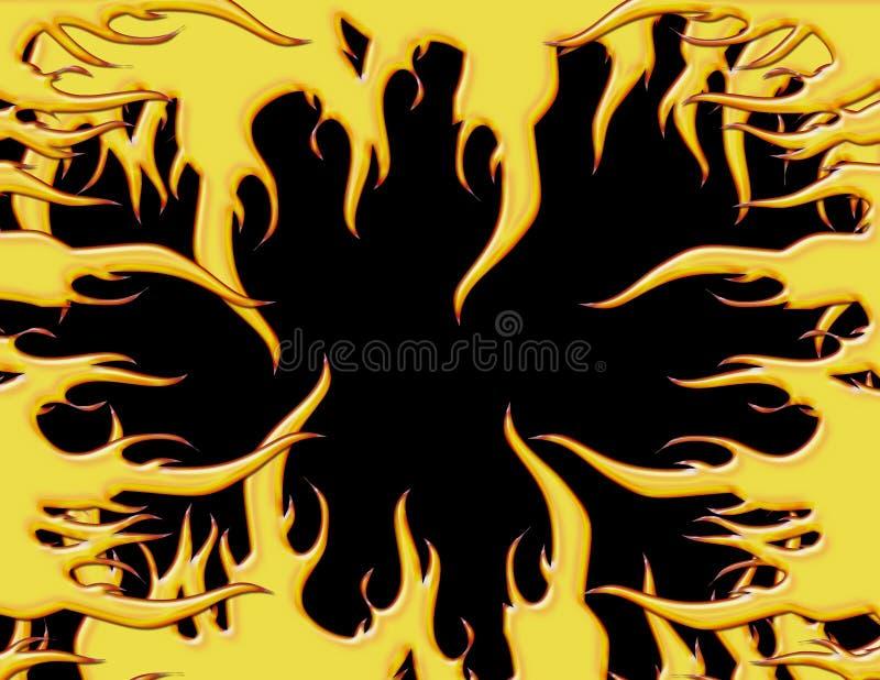 Frontera de la llama stock de ilustración