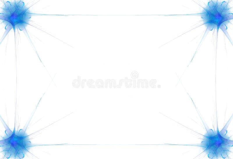 Frontera de la llama azul libre illustration