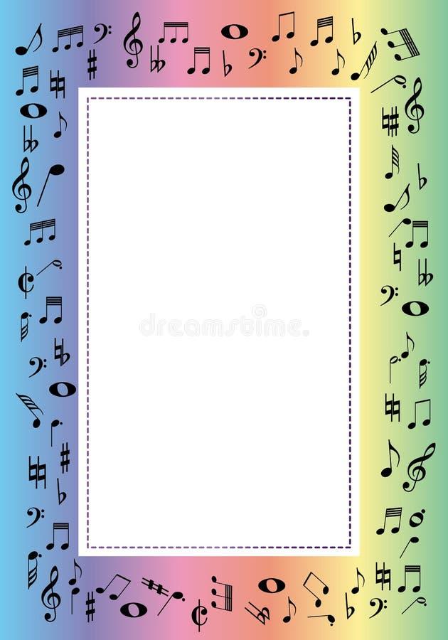 frontera de la música ilustración del vector