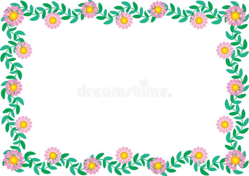 Frontera de la margarita ilustración del vector