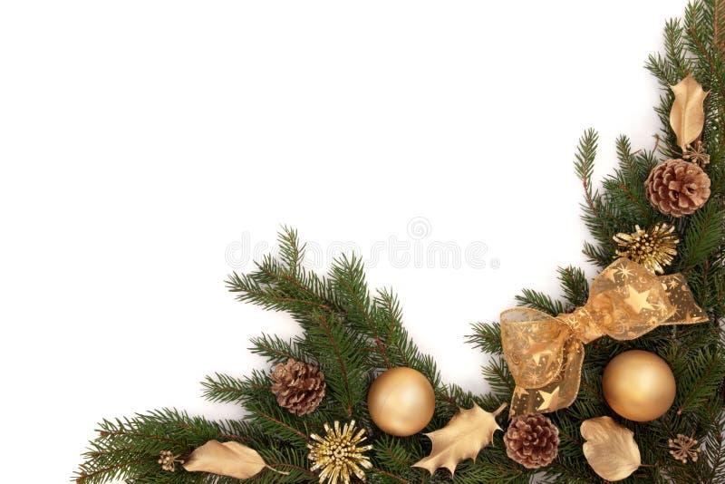 Frontera de la Navidad imagen de archivo