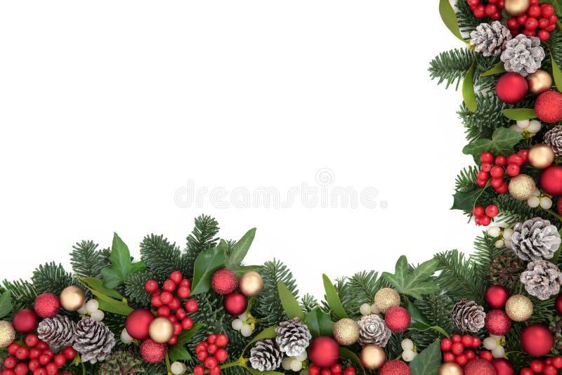 Frontera de la Navidad imagen de archivo libre de regalías
