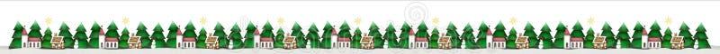 Frontera de la Navidad aislada en blanco stock de ilustración