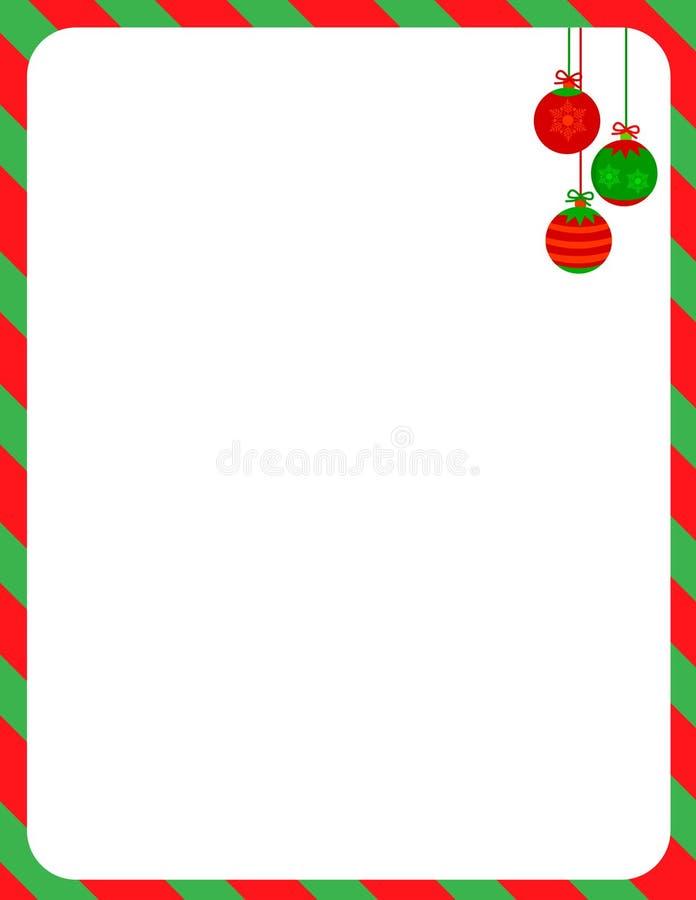 Frontera de la Navidad/bastón de caramelo ilustración del vector