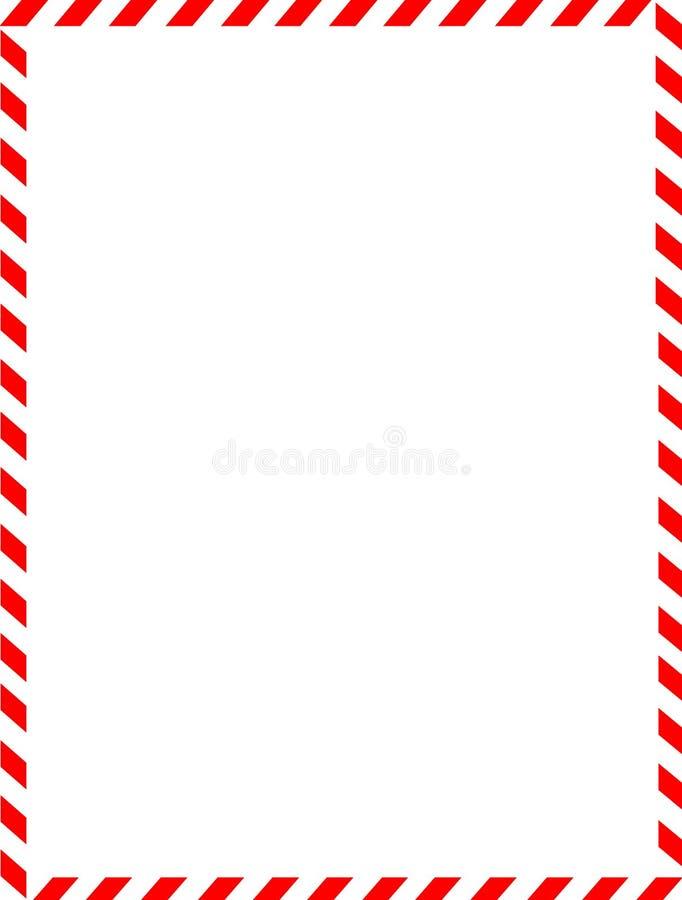 Frontera de la Navidad/bastón de caramelo stock de ilustración