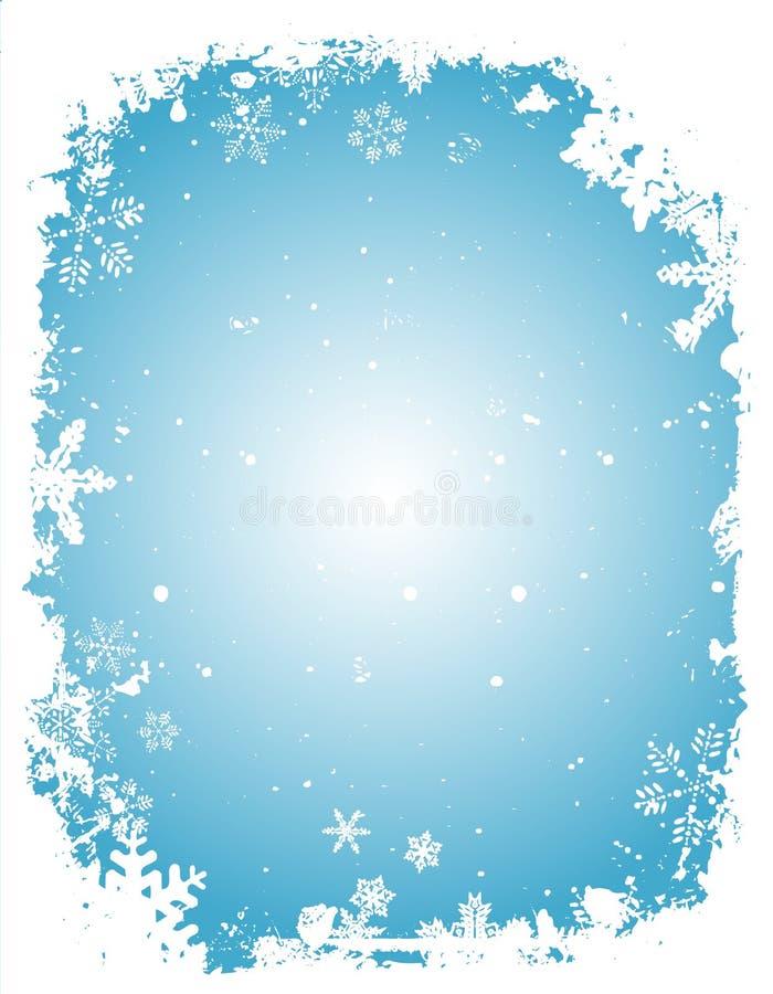 Frontera de la Navidad de Grunge ilustración del vector