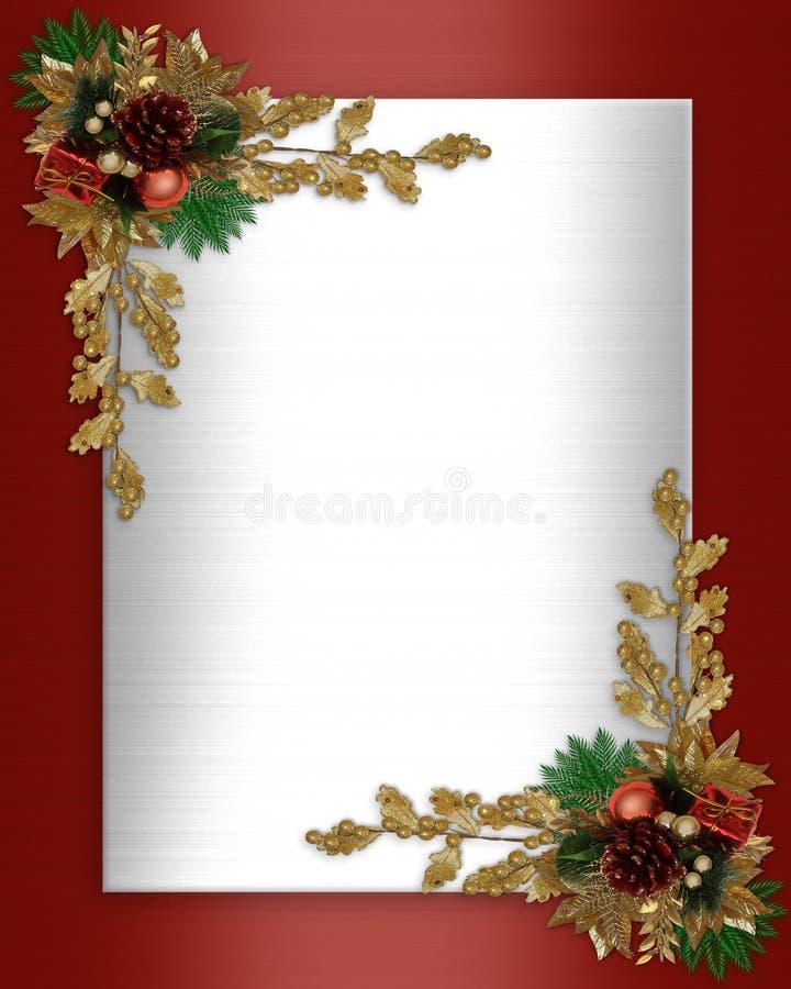 Frontera de la Navidad elegante stock de ilustración