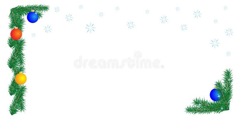Frontera de la Navidad en el fondo blanco libre illustration
