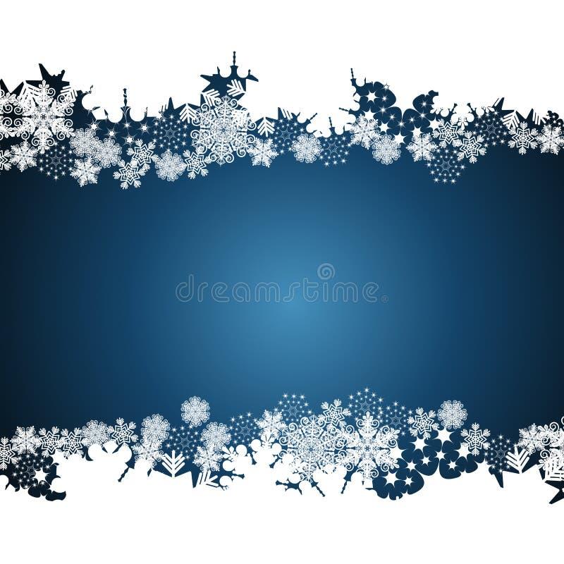Frontera de la Navidad, fondo del diseño del copo de nieve libre illustration