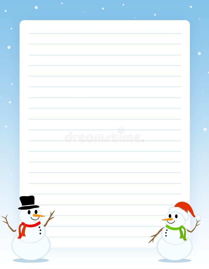 Frontera de la Navidad/papel de nota stock de ilustración