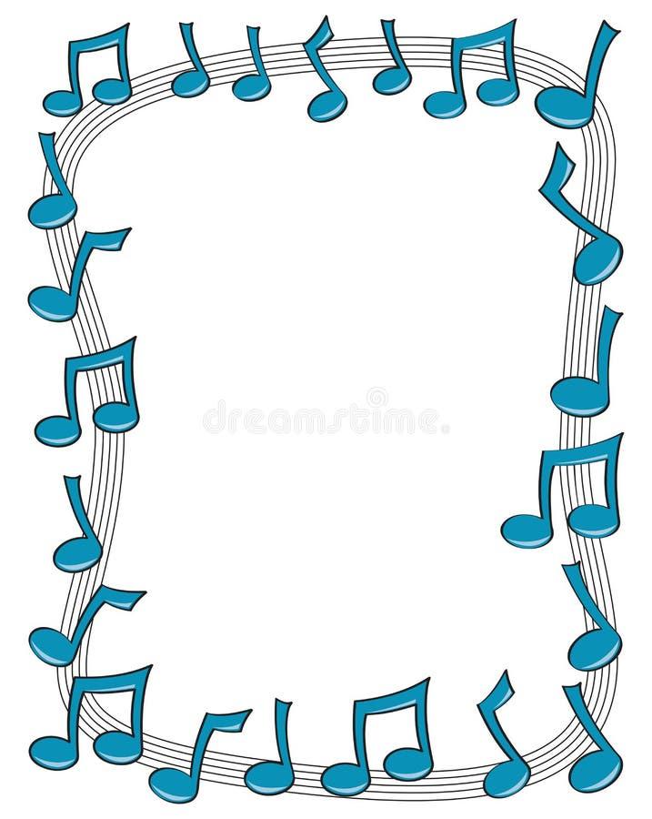 Frontera de la nota de la música ilustración del vector