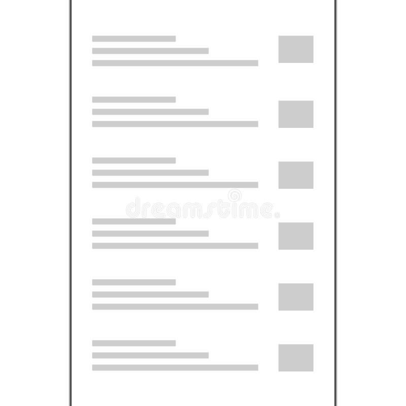 Frontera de la página de estilo del vintage del diseño del papel A4 stock de ilustración